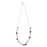 Multi Color Freshwater Cultured Pearl Necklace in Silver