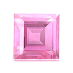 6 mm AAA Square Synthetic Pink Sapphire ( 1 pc ) Loose Gemstone