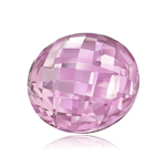 10 mm AAA Round Double Sided Checker Board Synthetic Pink Sapphire ( 1 pc ) Loose Gemstone