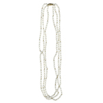 Three Strand Freshwater Cultured Pearl Necklace in 14K Yellow Gold
