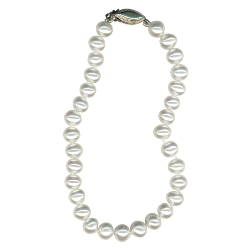 Freshwater Potato Cultured Pearl Knotted Bracelet in Silver