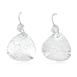 Asymmetric Textured Dangle Earrings in Sterling Silver