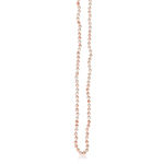 Natural ( Not Dyed ) Pink Coral Necklace in 14K Yellow Gold