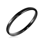 2 mm Black Domed Tungsten Wedding Band