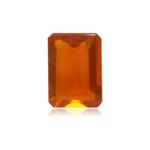 0.80-0.90 Cts of 7.4x5.5x3.5 mm AAA Emerald-Cut Loose Brazilian Fire Opal ( 1 pc ) Loose Gemstone