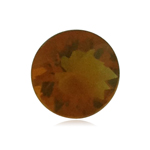 1.24 Cts of 8.2x8.2x4.8 mm AAA Round Loose Brazilian Fire Opal ( 1 pc ) Loose Gemstone
