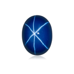 1.34-2.28 Cts of 8x6 mm Oval Cabochon Synthetic German Lab Created Star Sapphire ( 1 pc ) Loose Gemstone