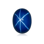 1.97-3.35 Cts of 9x7 mm Oval Cabochon Synthetic German Lab Created Star Sapphire ( 1 pc ) Loose Gemstone