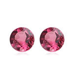 0.52-0.54 Cts of 4 mm AAA Round Natural African Pink Tourmaline ( 2 pcs ) Loose Gemstone