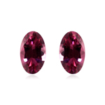 0.39-0.56 Cts of 5X3 mm AAA Oval Natural African Pink Tourmaline ( 2 pcs ) Loose Gemstone