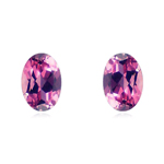 0.41-0.55 Cts of 5X3 mm AAA Oval Natural Brazilian Pink Tourmaline ( 2 pcs ) Loose Gemstone