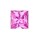 0.45-0.60 Cts of 4 1/2 mm AAA Princess  Pink Sapphire ( 1 pc ) Loose Gemstone