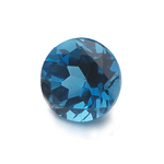 1.07-1.31 Cts of 6.5x6.5 mm AAA Round Cut London Blue Topaz  ( 1 pc ) Loose Gemstone