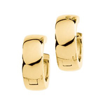 Shiny Snuggable Hinged Earring in 14K Yellow Gold