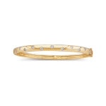 1/2 Cts Diamond Bangle Bracelet in 14K Yellow Gold