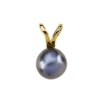 Akoya Cultured Black Cultured Pearl Pendant