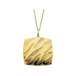 14K Yellow Gold Rhodium Plate Diamond Necklace
