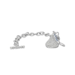 Hersheys Kisses Cubic Zircon Charm Bracelet