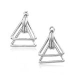 Double-Triangle Earring Jacket Mounting in 14K White Gold