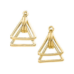 Double-Triangle Earring Jacket Mounting in 14K Yellow Gold