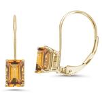 1.32 Ct Citrine Stud Earrings in 14K Yellow Gold