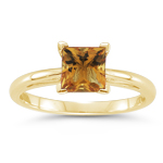 1.42 Cts Citrine Solitaire Ring in 14K Yellow Gold