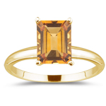 0.66 Cts Citrine Solitaire Ring in 18K Yellow Gold