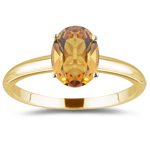 1.52 Cts Citrine Solitaire Ring in 14K Yellow Gold