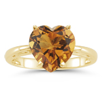 1.06 Cts Citrine Solitaire Ring in 14K Yellow Gold