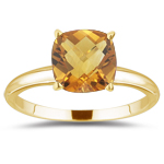 1.06 Cts Citrine Solitaire Ring in 18K Yellow Gold