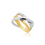 Triple-Intertwined Gold Ring in 14K Two Tone Gold