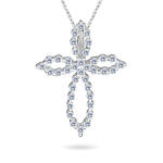 Cross Pendant - 0.30-0.35 Cts  SI2 - I1 clarity and I-J color Diamond Cross Pendant in 14K Gold