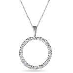Diamond Pendant - Diamond Circle Pendant in 18K Gold