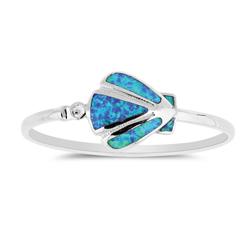 Opal Shell Bracelet in Sterling Silver