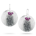7.00 Cts Amethyst Briolette Earrings in Sterling Silver - Christmas Sale
