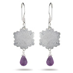 1.00-1.40 Cts Amethyst Earrings in Sterling Silver - Christmas Sale