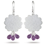 4.00 Cts Amethyst Earrings in Sterling Silver