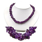 50.00 Cts Amethyst Majestic Necklace in Silver