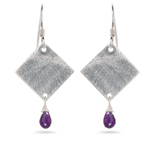 1.50 Cts Amethyst Earrings in Sterling Silver