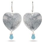 1.20 Cts Aquamarine Earrings in Sterling Silver