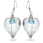 2.40 Cts Aquamarine Earrings in Sterling Silver