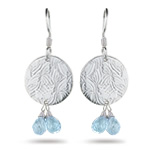 1.58 Cts Aquamarine Earrings in Sterling Silver