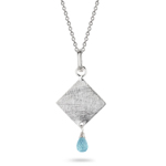 1.05 Cts Aquamarine Pendant in Sterling Silver
