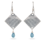 1.50 Cts Aquamarine Earrings in Sterling Silver
