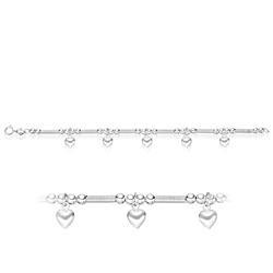 Heart Charm Childrens 15 cm Bracelet