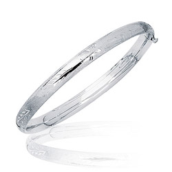 Prince & Princess Childrens Paisley Bangle in 14K White Gold