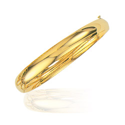 8 mm Classic Bangle in 14K Yellow Gold