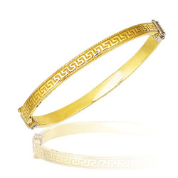 Princess Childrens Bangle in 14K Yellow Gold