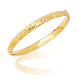 Prince & Princess Childrens Bangle in 14K Yellow Gold