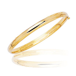 Prince and Princesses Childrens Polished Bangle in 14K Yellow Gold